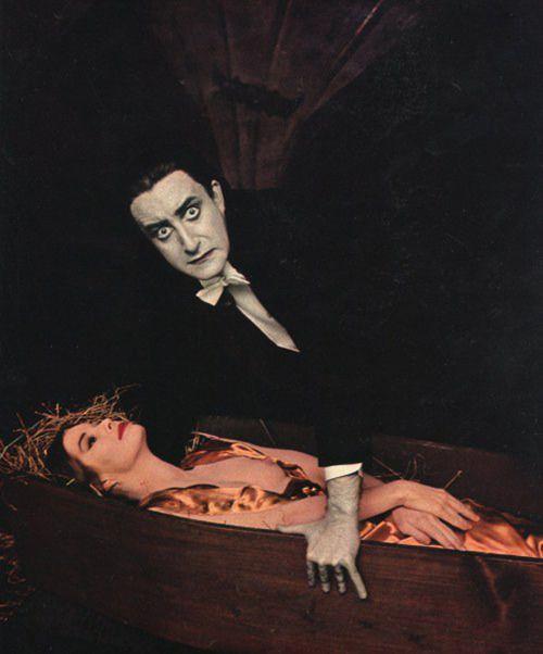 Peter Sellers as Dracula.    Playboy, 1964