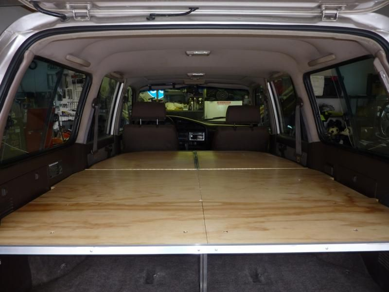 This is a good 4Runner sleeping platform that folds back