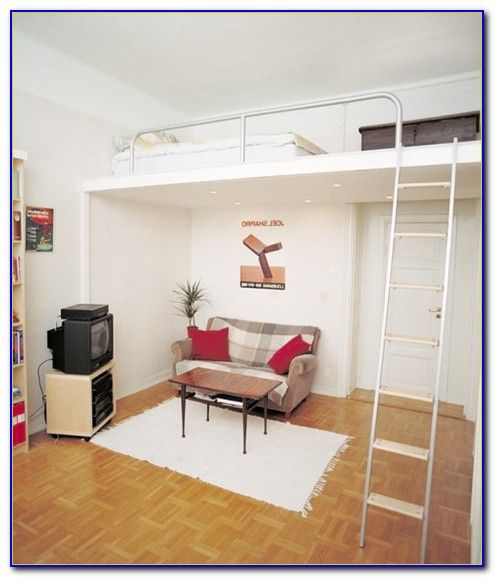 Queen size loft beds for adults home things loft bed - Small beds for adults ...