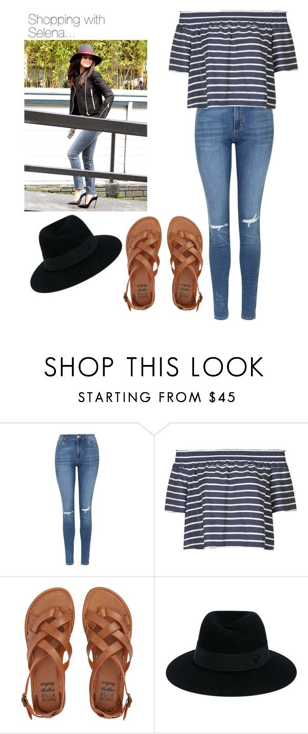 """""""Shopping with Selena..."""" by lovefashionxxxxxx on Polyvore featuring Topshop, Billabong and Maison Michel"""