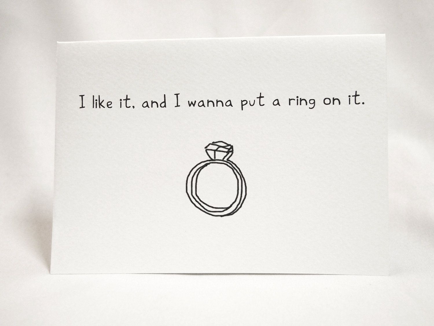 Wedding Ring Proposal Card  Via Etsy  Lastsarahann