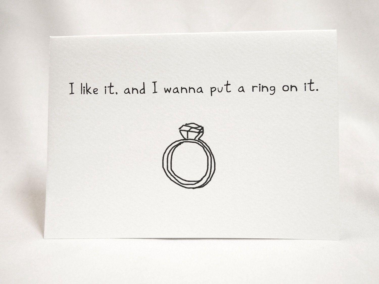 Wedding Ring Proposal Card 395 via Etsy LASTsarahann