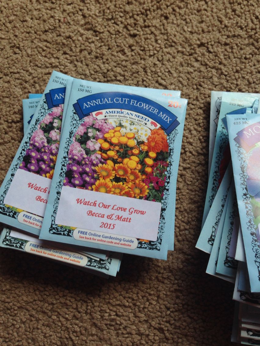 I Bought Flower Seed Packets For 20 Cents Each And Made Labels For