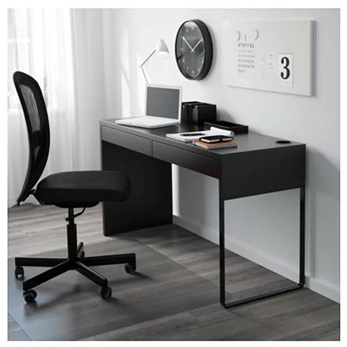 Ikea Micke Desk 142x50cm Black Brown In 2020 Micke Desk Ikea Micke Desk Ikea Small Desk