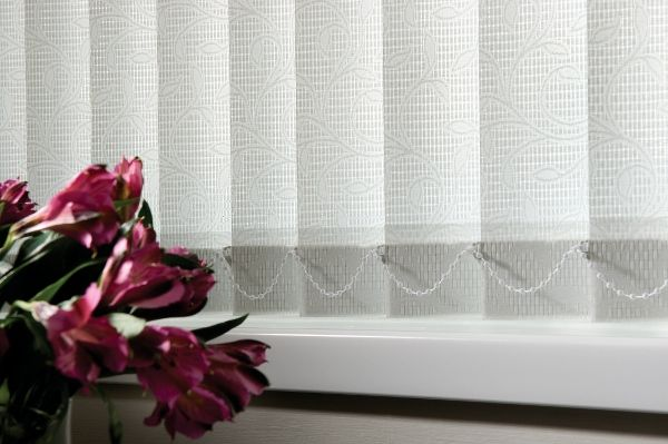 Bellini White Is An Elegant Lace Effect Fabric With A Natural Leaf