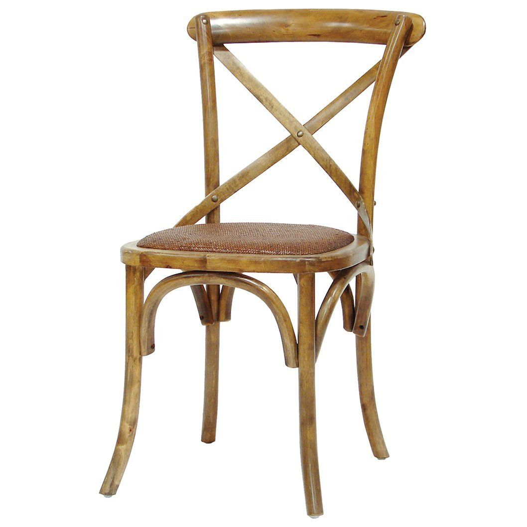 Amazon Com Magritte French Country Antique Oak Cane Bistro Chair