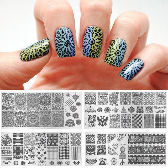 Wholesale Kaleidoscope Nail Art Metal Plate Image Stamping Plates ...