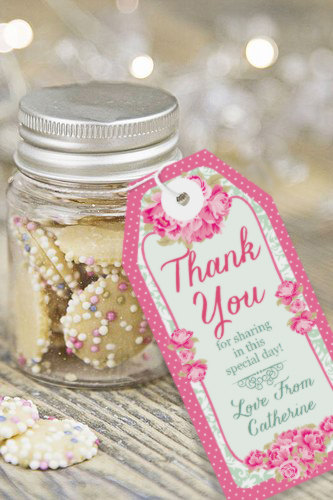 High Tea Party Favor Tags Thank You Tags Instantly Downloadable