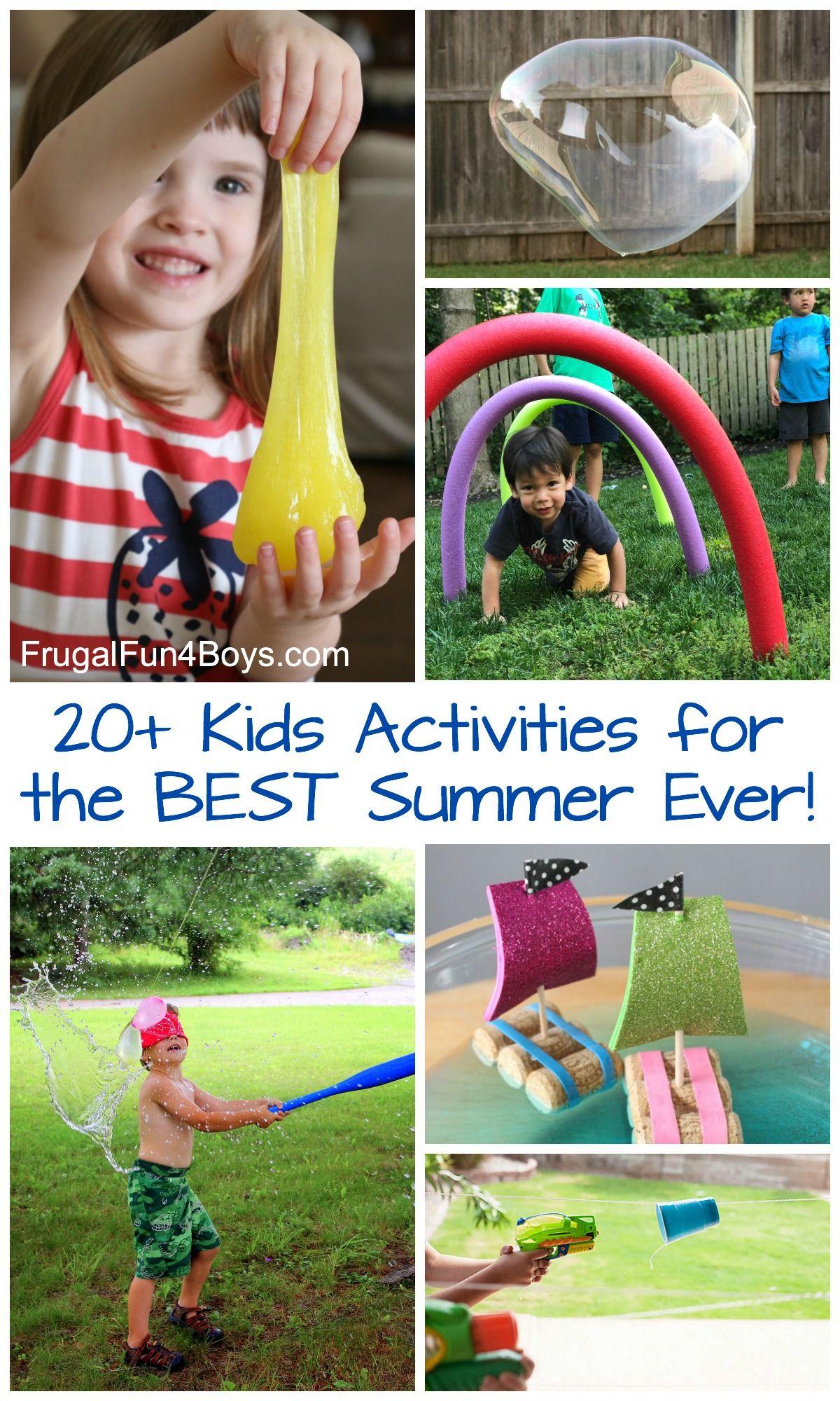 20 Kids Activities For The Best Summer Ever Frugal Fun For Boys And Girls Activities For Kids Summer Activities For Kids Fun Activities For Kids