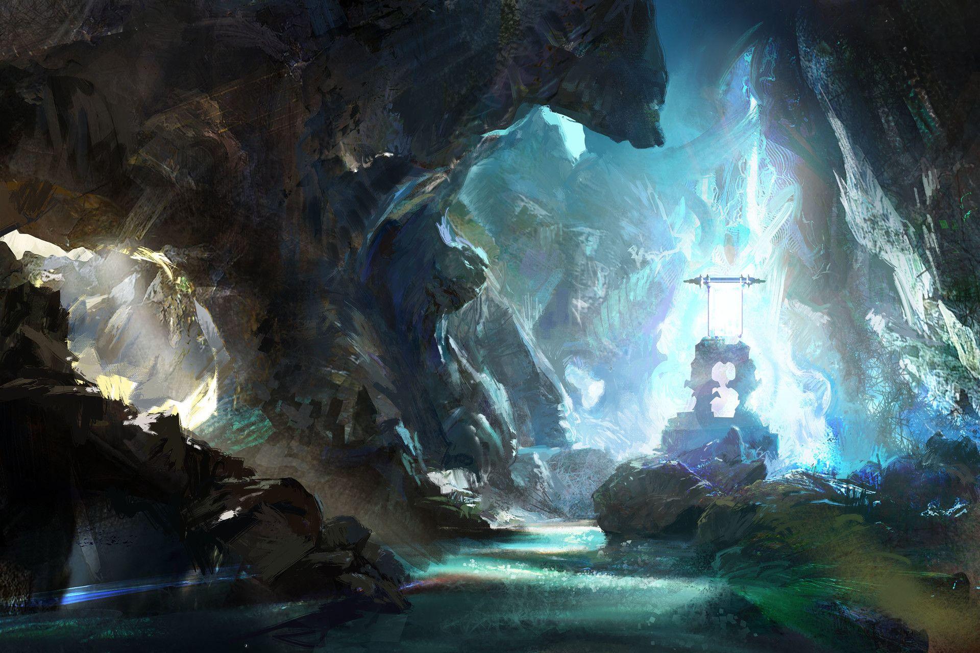 ArtStation - magic cave, hongqi zhang