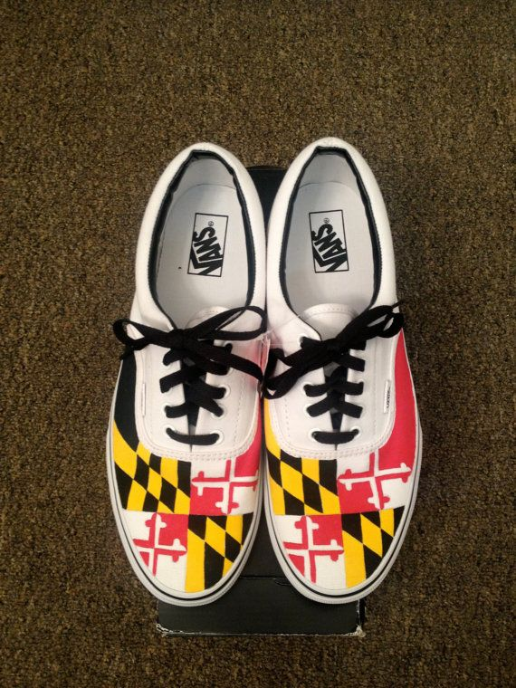 f1a40dec2a Maryland Flag Vans MENS by EricaLeeCreatives on Etsy