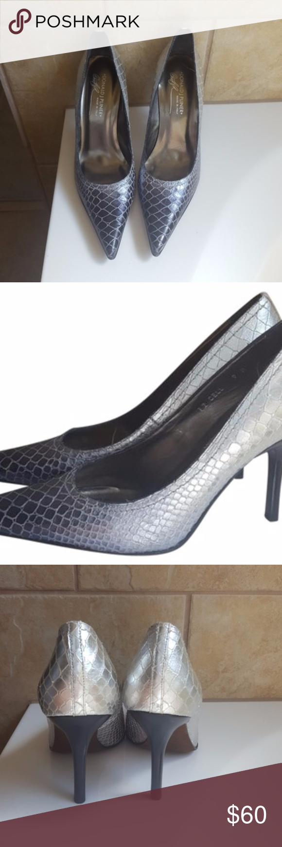 Donald J. Pliner J Silver/Purple Pumps | Purple pumps, Shoes heels ...
