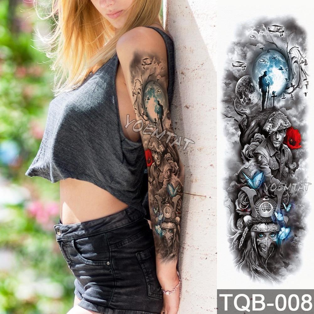 Edgy fake tattoo sleeve nutrending tattoo lavender