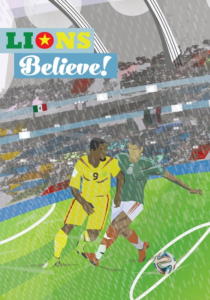 Lionel Thomas represents Cameroon in the 326490.com creative world cup challenge Mexico 1-0 Cameroon