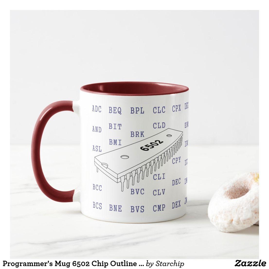 Programmer's Mug Z80 Chip & Instructions (Outline) | Zazzle co uk