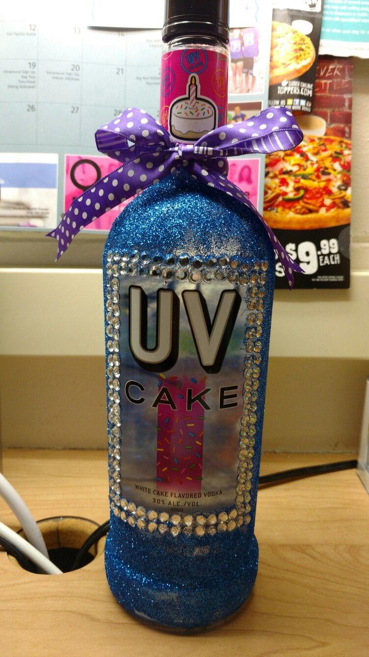 21st decorated vodka bottle