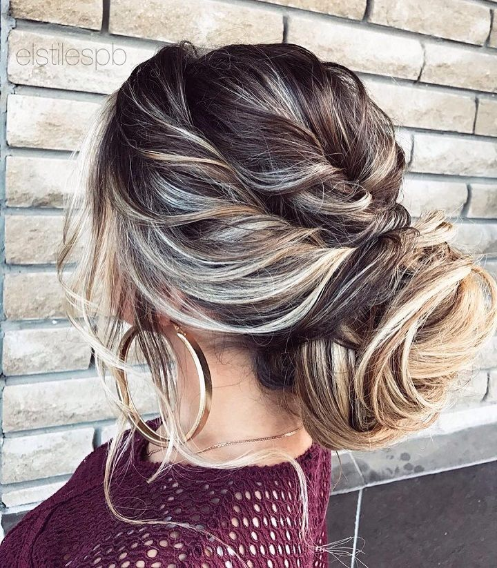 loose updo wedding hairstyle #weddinghair #hairstyles #updos #messyupdos #bridalhair