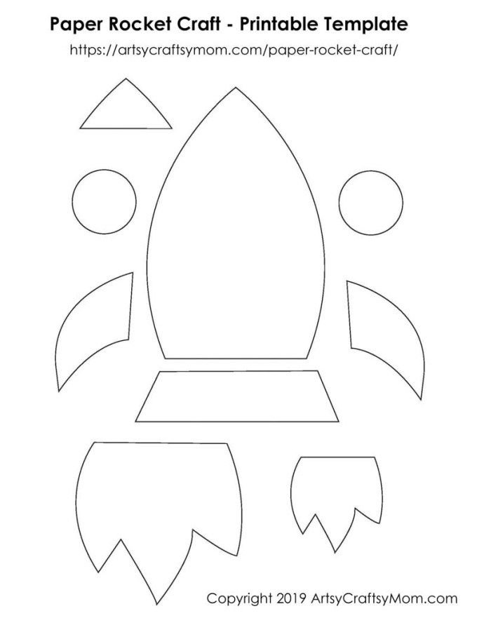 Paper Rocket Craft For Kids Free Template Rocket Craft Space Crafts For Kids Free Printable Crafts
