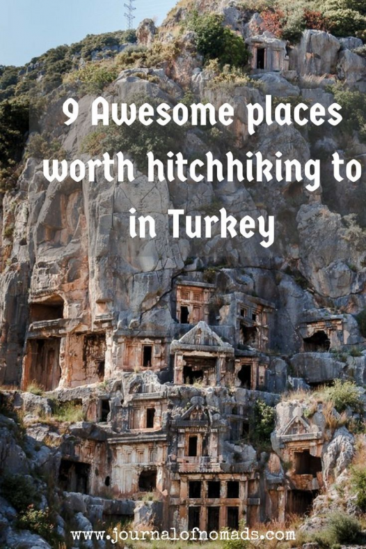 Turkey is a beautiful country that has lots to offer: history culture nature...Here are 9 awesome places you shouldn't miss when hitchhiking/ traveling in Turkey!: #turkeydestinations #turkey #destinations #trips