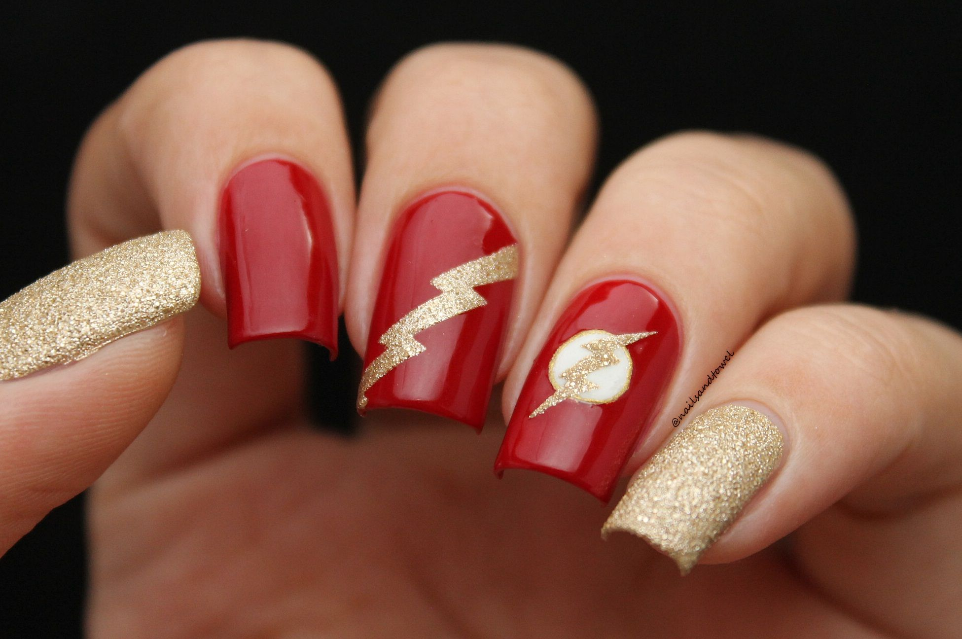 Nail art inspired by The Flash | Nail art inspired by Movies / TV ...