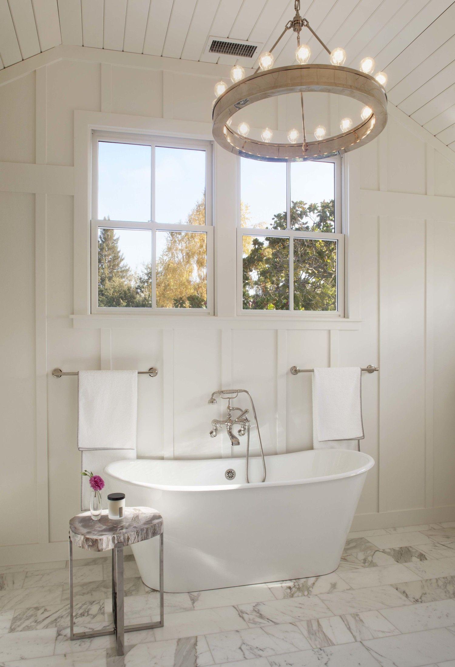 White bathroom by Modern Organic Interiors.