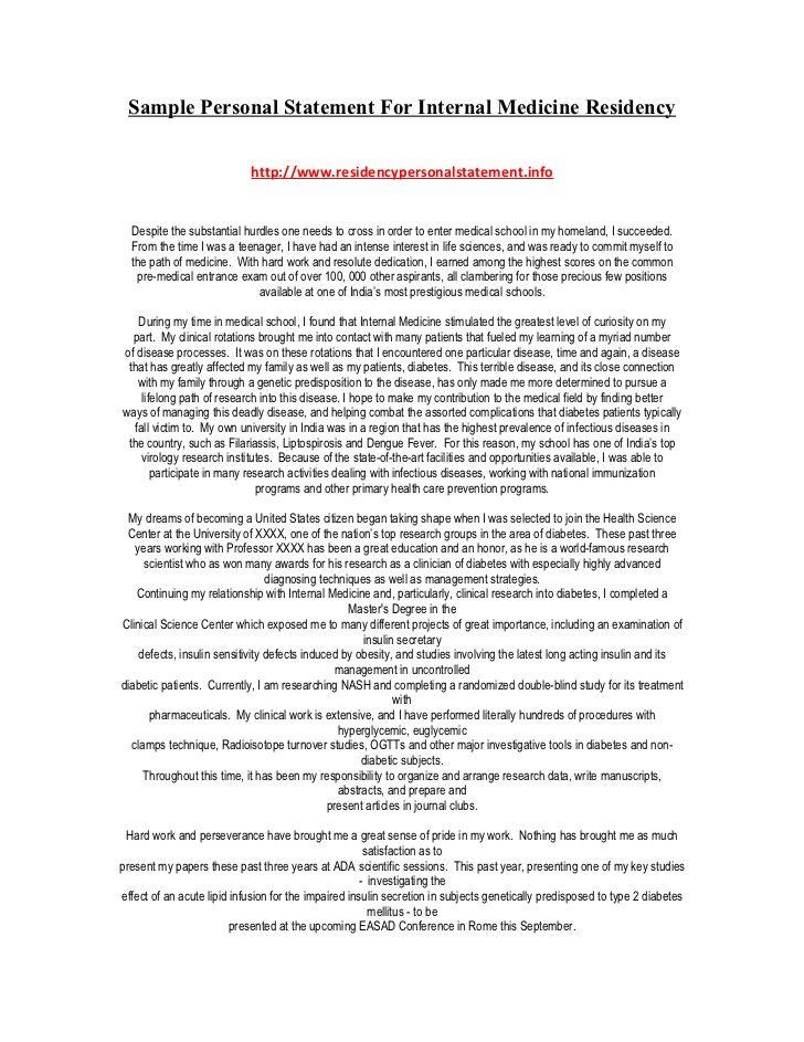 sle personal statement for medicine residency Motors Pinterest