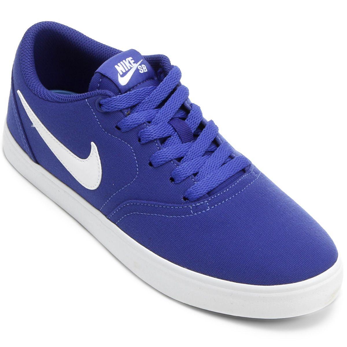 Tenis Nike Sb Check Solar Cnvs Masculino Preto E Azul Tenis Nike Sb Check Nike Sb Tenis Nike Sb