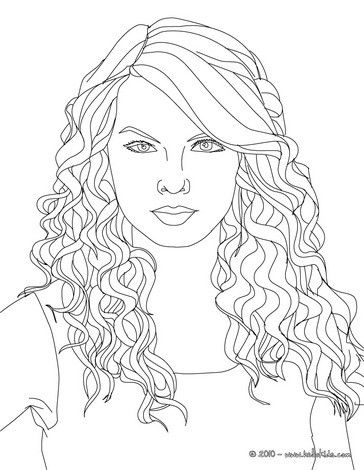 Taylor Swift Cat S Eyes Coloring Page More Taylor Swift Coloring Sheets On Hellokids Com People Coloring Pages Coloring Pages Cute Coloring Pages