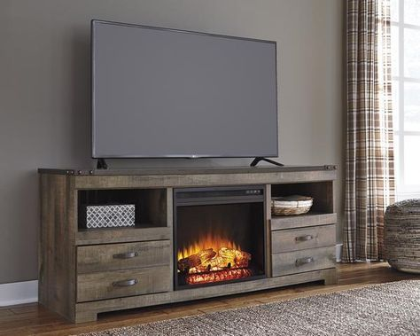 Warm Rustic Plank Finish Replicated Oak Grain And Authentic Touch Tops Are Captu Fireplace Tv Stand Electric Fireplace Tv Stand Fireplace Entertainment Center