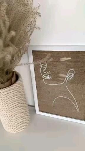 Photo of DIY line art