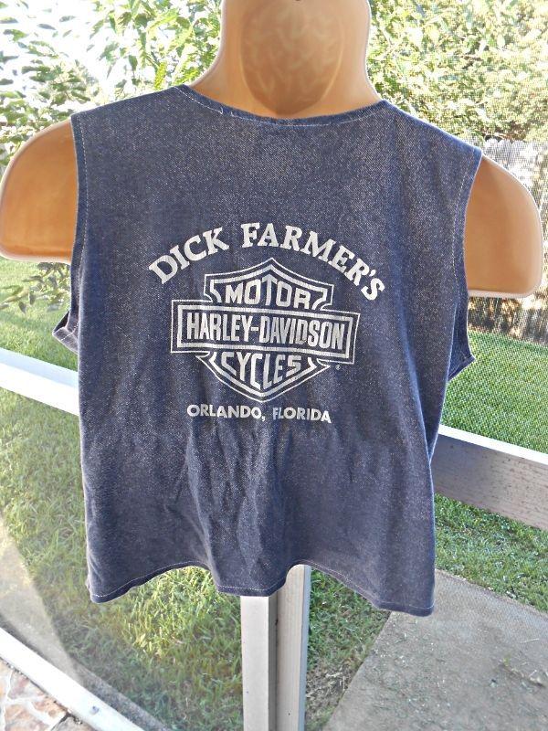HARLEY DAVIDSON Women's Dick Farmer's Orlando FLORIDA Tank Vest Top Tee Lg  #HarleyDavidson #Blouse #Casual