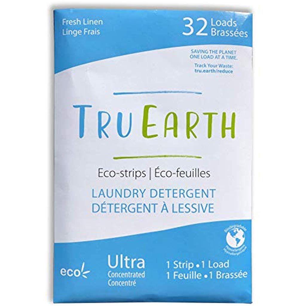 Tru Earth Eco Strips Laundry Detergent Fresh Linen Eco Friendly