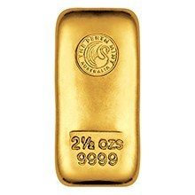 2 5oz Perth Mint Gold Bullion Bar