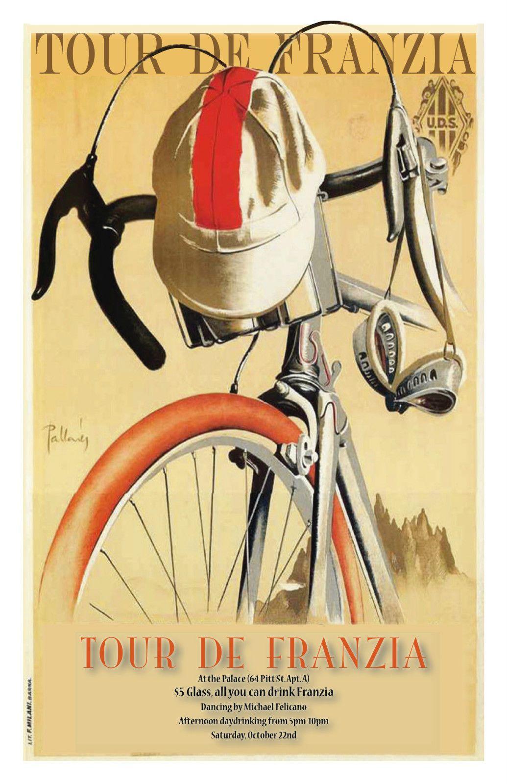 "Tour de france vintage poster poster 8"" x 6"" metal sign no ..."