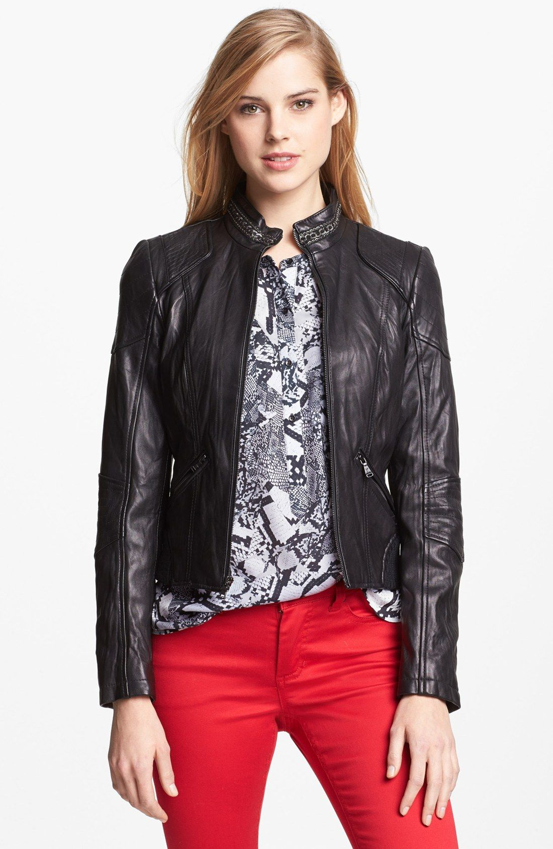 35 Trendy Womens Leather Jackets | Leather jackets, Leather and Chains