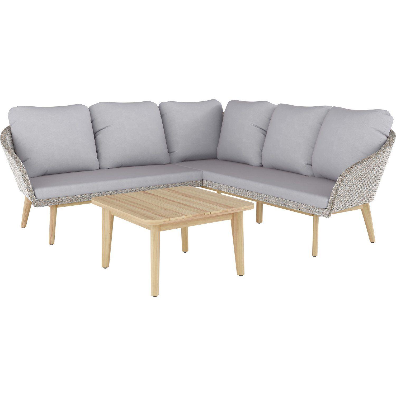 Komplette Lounge Gruppe Bestehend Aus Sitzmobeln Und Tisch Lounge Set Bonavista 3 Teilig Aus Polyrattan Braun Lounge Ga Lounge Gartenmobel Polyrattan Mobel