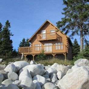 Oceanfront Log Home | Hunt's Point, Nova Scotia Ocean ...