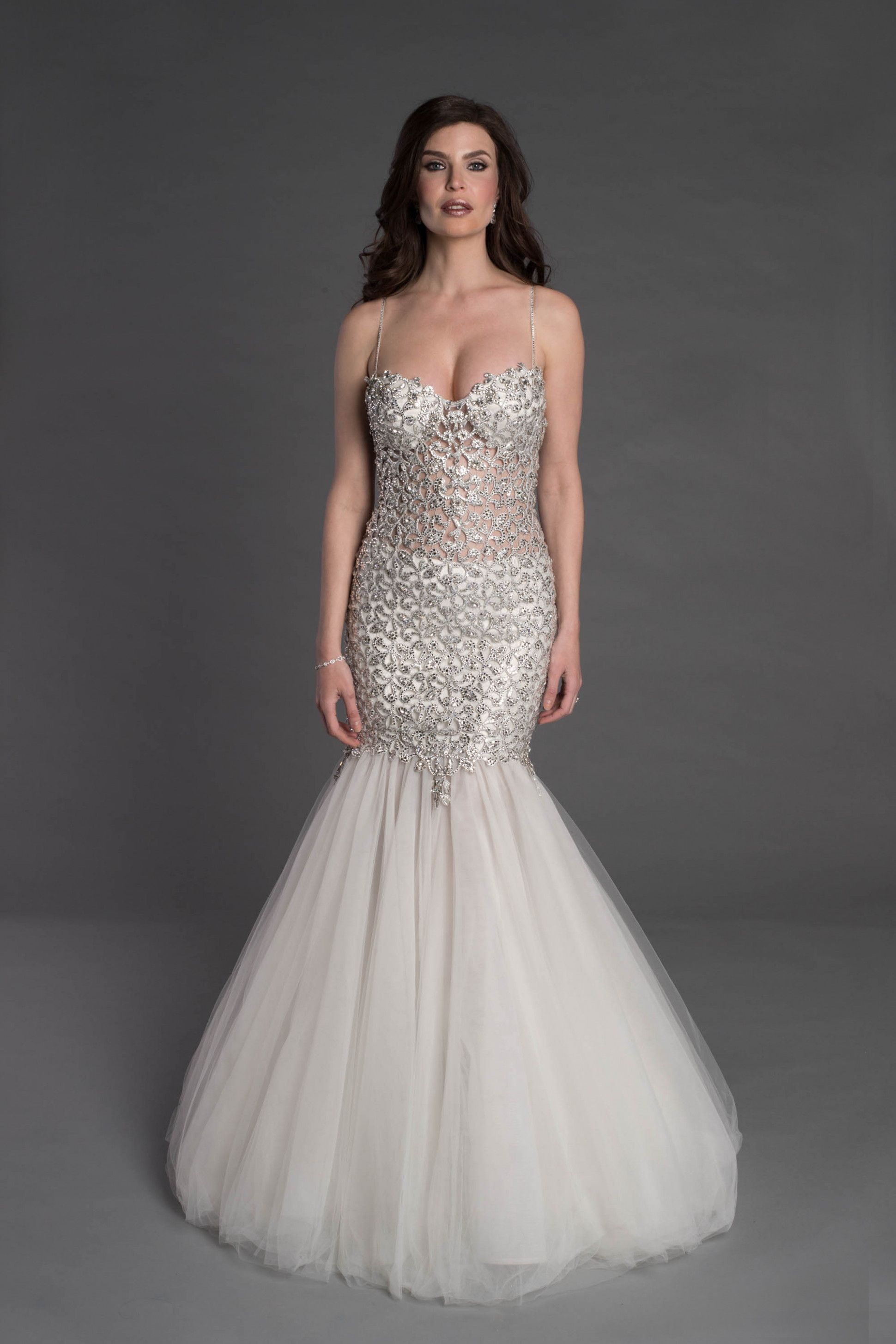Couture mermaid wedding dress kleinfeld bridal weddding dress