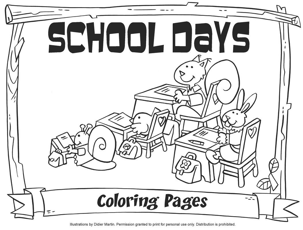 School Days Coloring Pages - My Little House | Kyrkpyssel - Tips ...