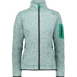 Photo of Cmp Damen Unterjacke Knitted Melange Fleece Woman Jacket, Größe 44 In Mint, Größe 44 In Mint F.lli C