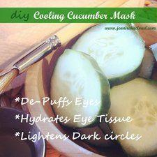 DIY Cooling Cucumber Mask! #skincare #howto #facial #eyecare - bellashoot.com