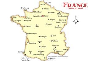 France Mapped: Explore Europe's Most Popular Destination: Map of France Showing the Best Cities for Tourists to Visit