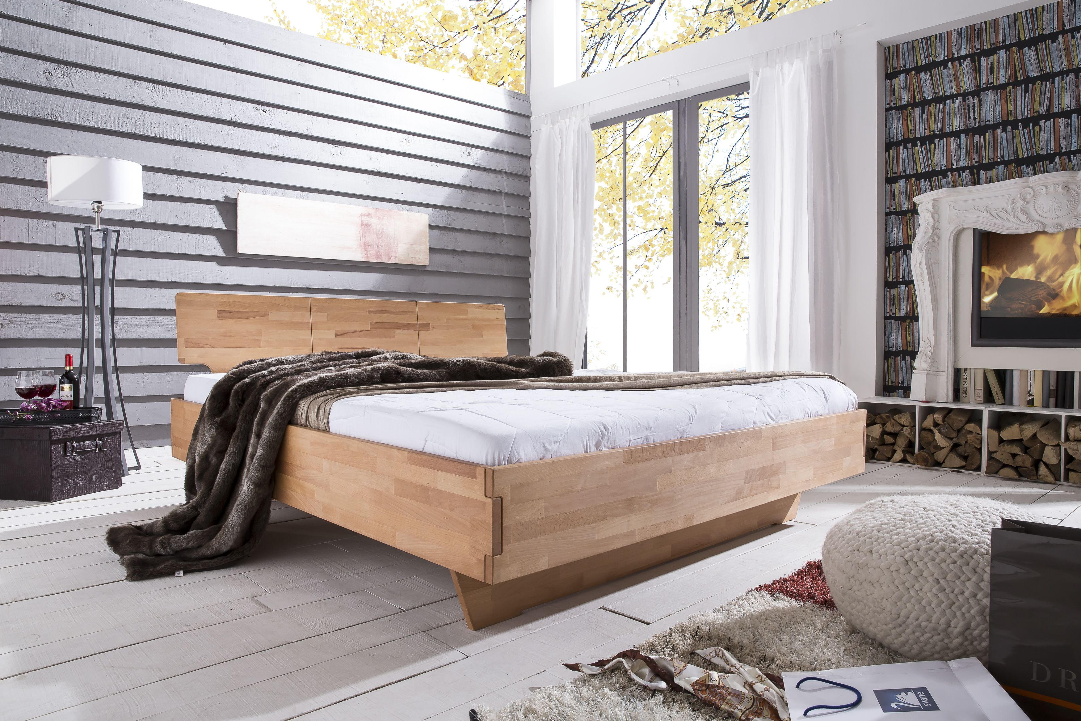 Massive Schlafzimmermöbel #Schlafzimmer #Bett #Massivholzbett ...