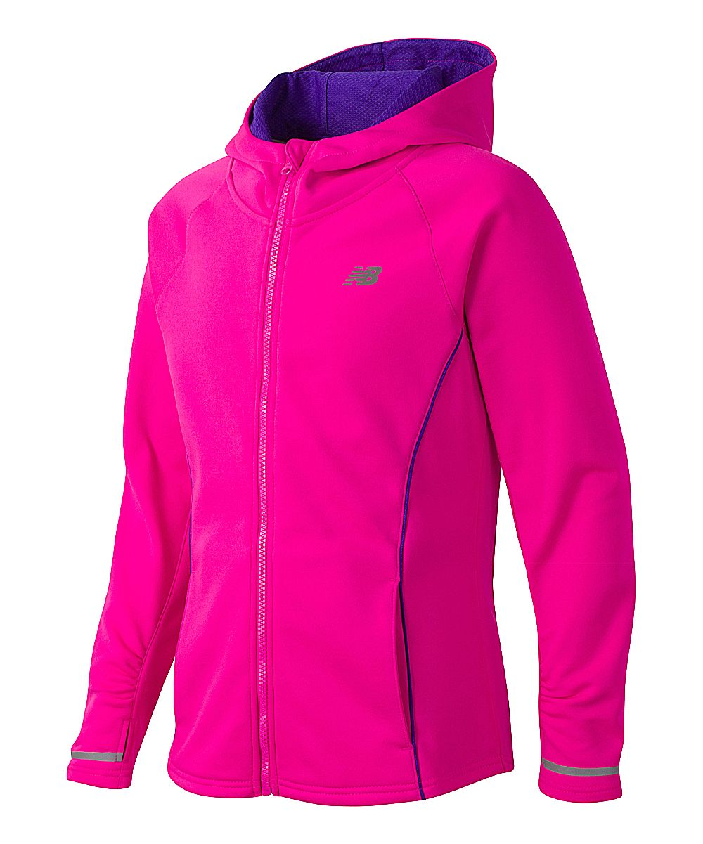 With a durable construction and a sleek, athletic design, this jacket keeps them warm while allowing full-range of motion.Athletic fitThumbhole sleeves100% polyesterMachine wash; tumble dryImported