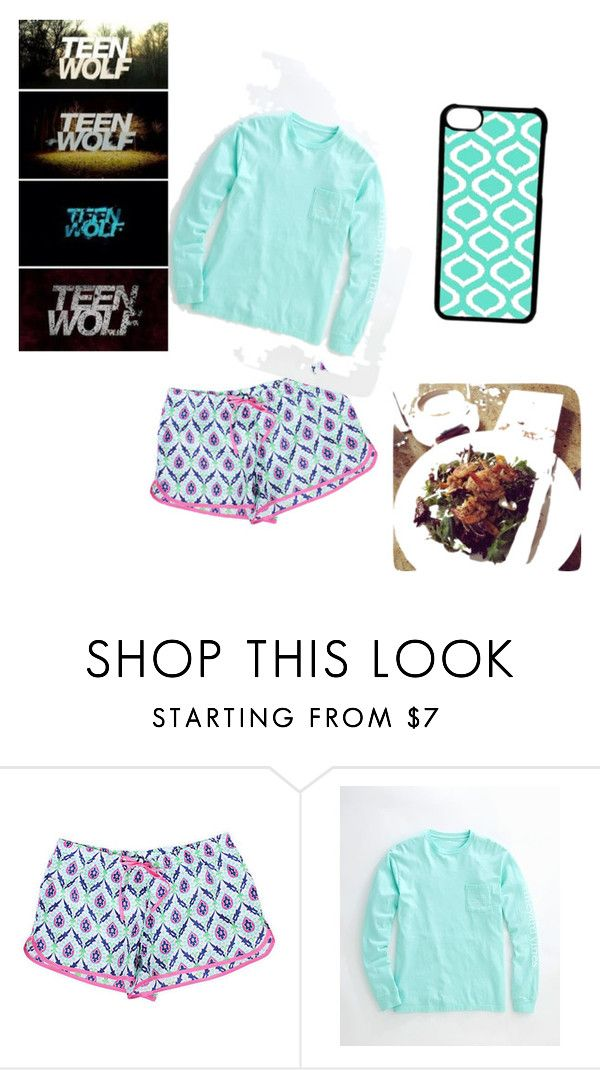 """""""Teen wolf was amazing tonight! """" by fashionuber ❤ liked on Polyvore featuring Malabar Bay, Vineyard Vines and CellPowerCases"""