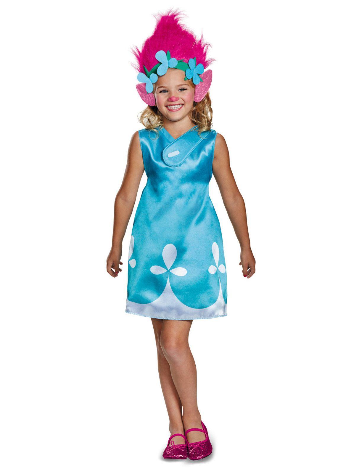 Poppy with Headband Costume Trolls Halloween Fancy Dress