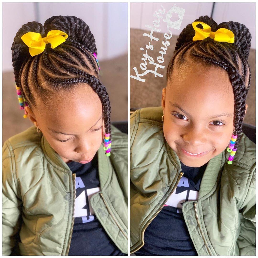 Kayshairhouse Kcbraids Kansascitybraider Braidsandbeads Braidsforgirls Justforme Beadsandbraids Feedinb Hair Styles Kids Hairstyles Lil Girl Hairstyles