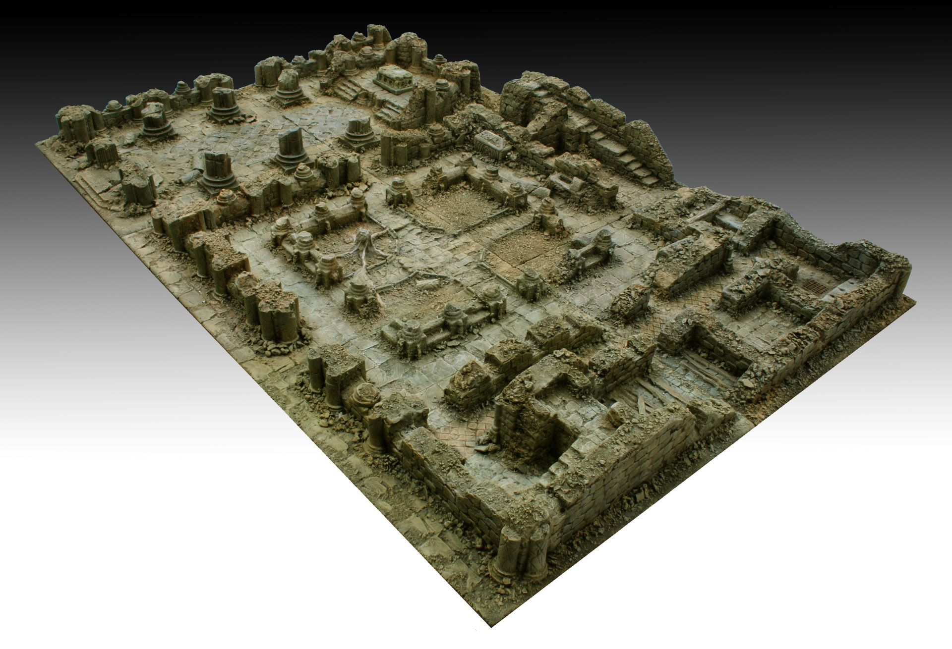 project for kickstarter platform: dedicated to the creation of bases 30x30 cm. for 3D tabletops for wargames and skirmish in 28-35 mm. - Master - 94 https://manorhouseworkshop.com/2016/02/23/update-12-3d-bases-modular-terrain-completed-the-abbey-and-cloister-in-ruin/
