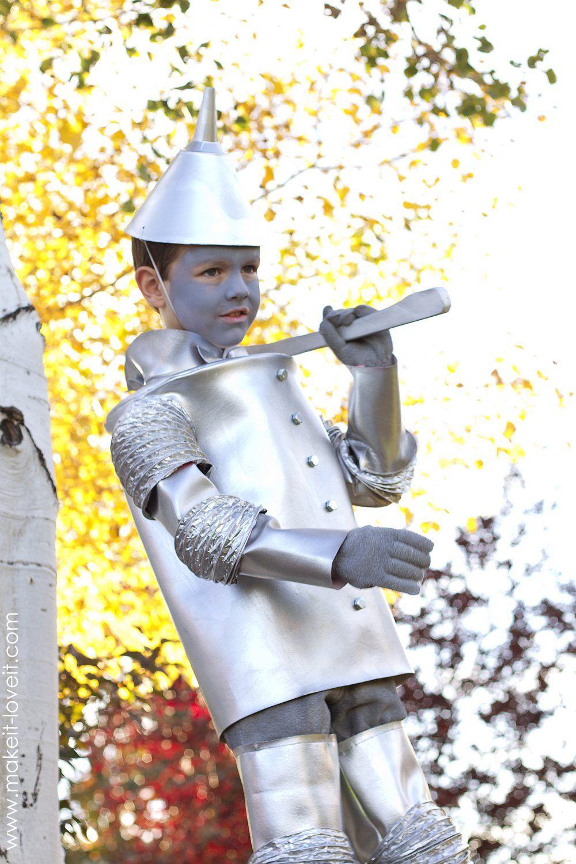 The TIN MAN (…from 'Wizard of Oz') | Tin man halloween costume. Tin man costumes. The wizard of oz costumes