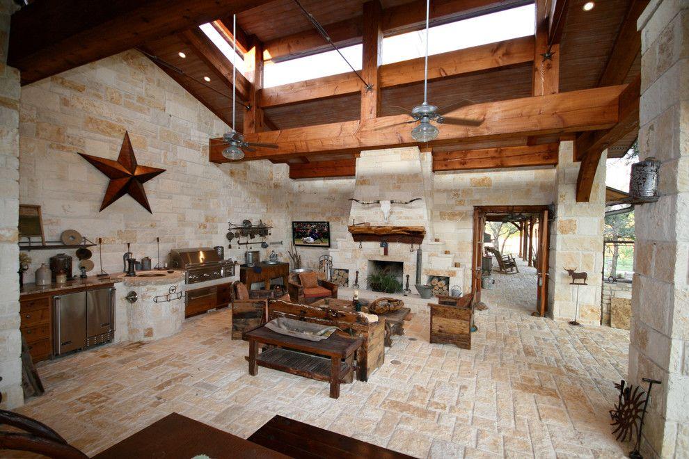 Hill County Patio Veranda -Texas Rustic style - John ...
